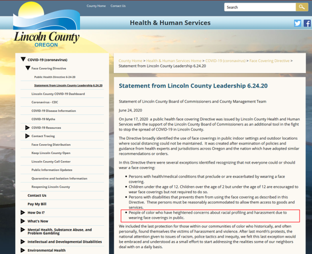 Statement from Lincoln County Leadership