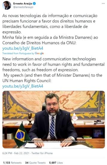 Ernesto Araujo-UNHRC